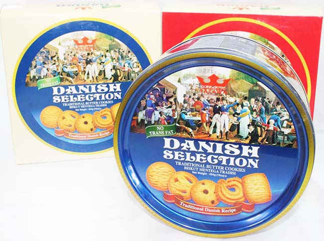 2 Hộp Bánh Quy Danish Selection Malaysia 454gr